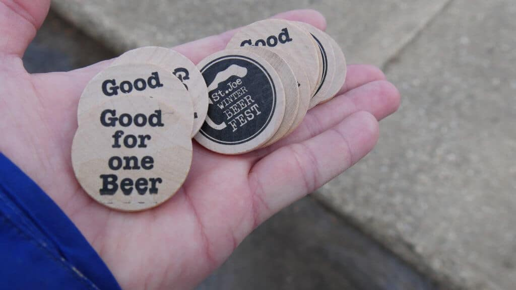 St. Joe Winter Beer Fest Wood Tokens