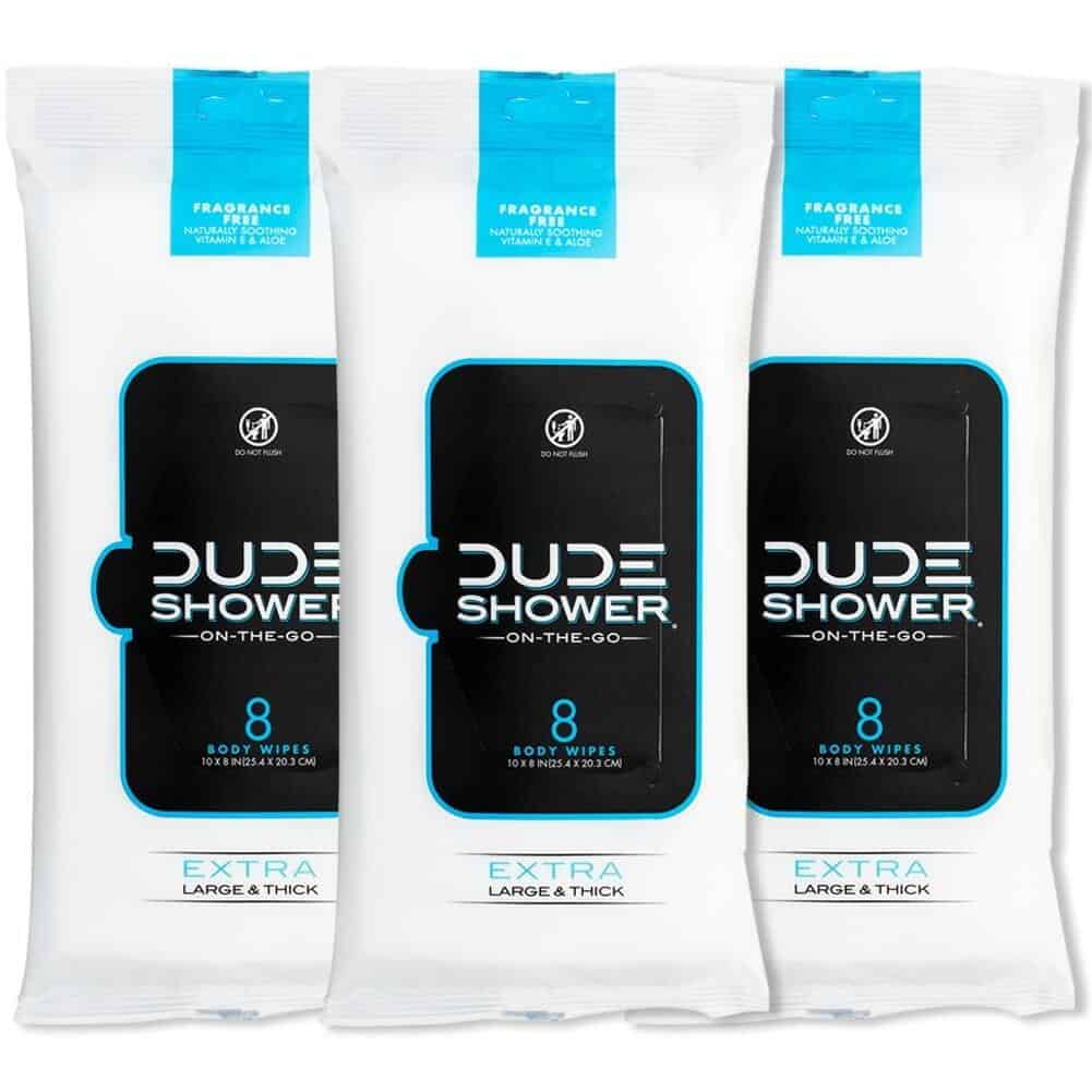 dude shower body wipes