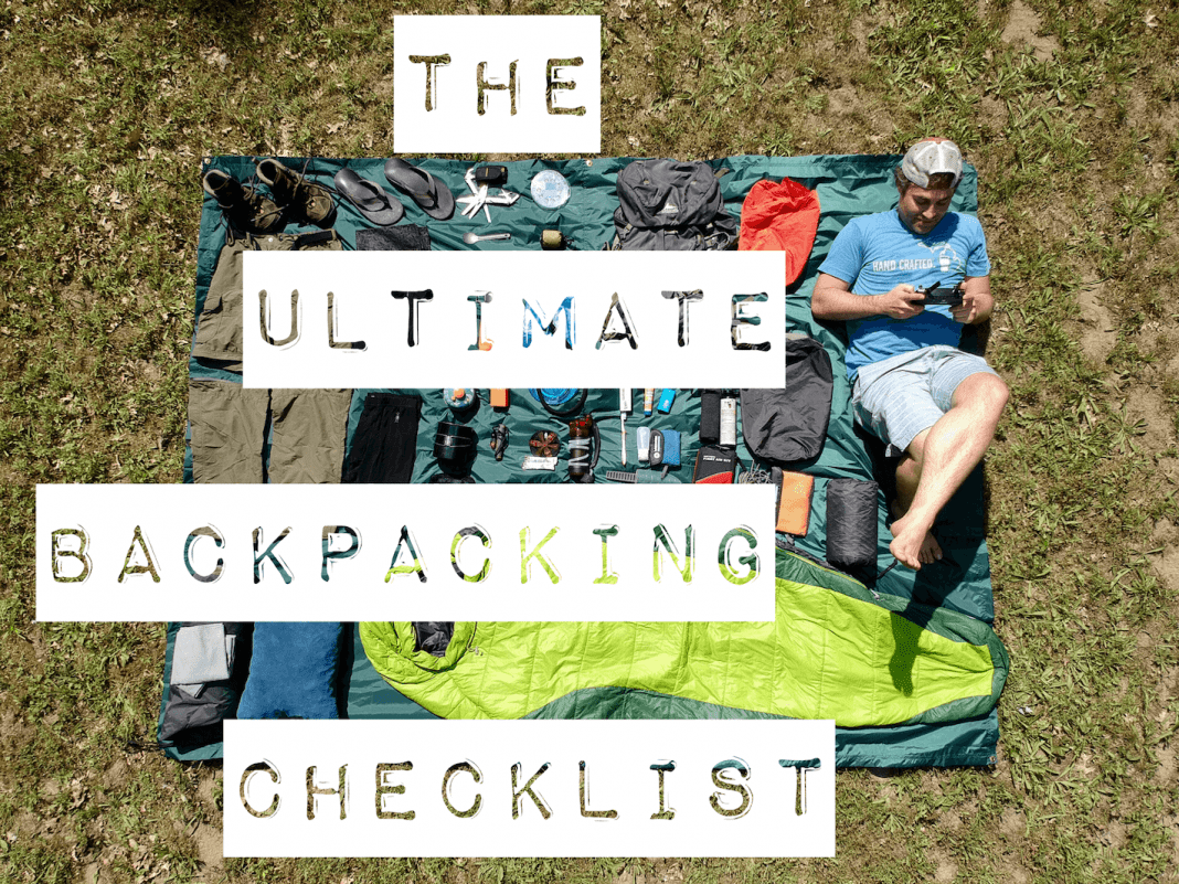 ulitmate backpacking checklist