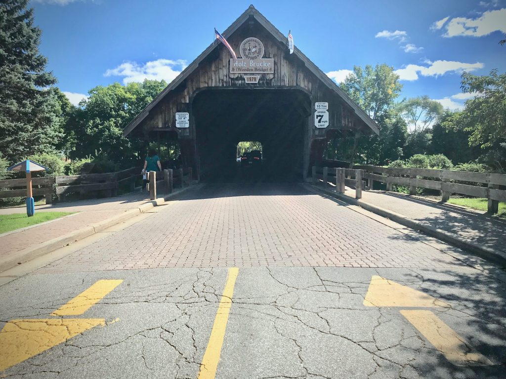 frankenmuth oktoberfest old wooden bridge